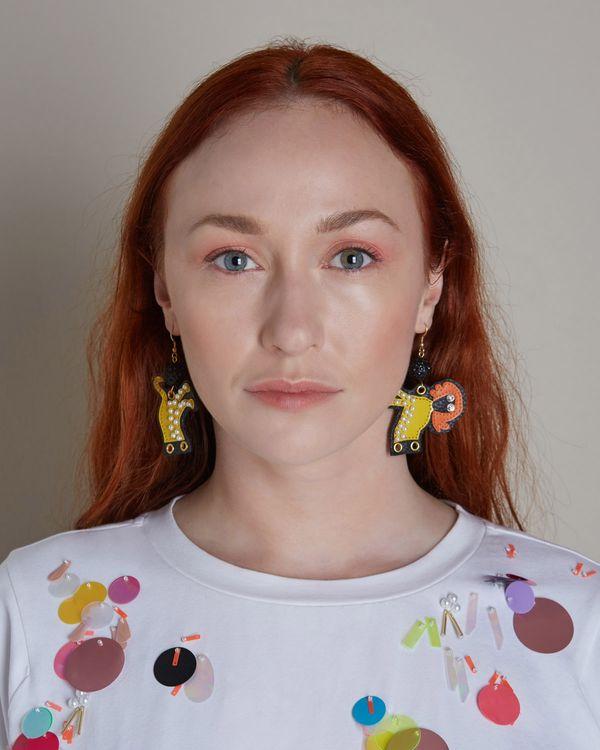 Joanne Hynes Tiger Lady Earring