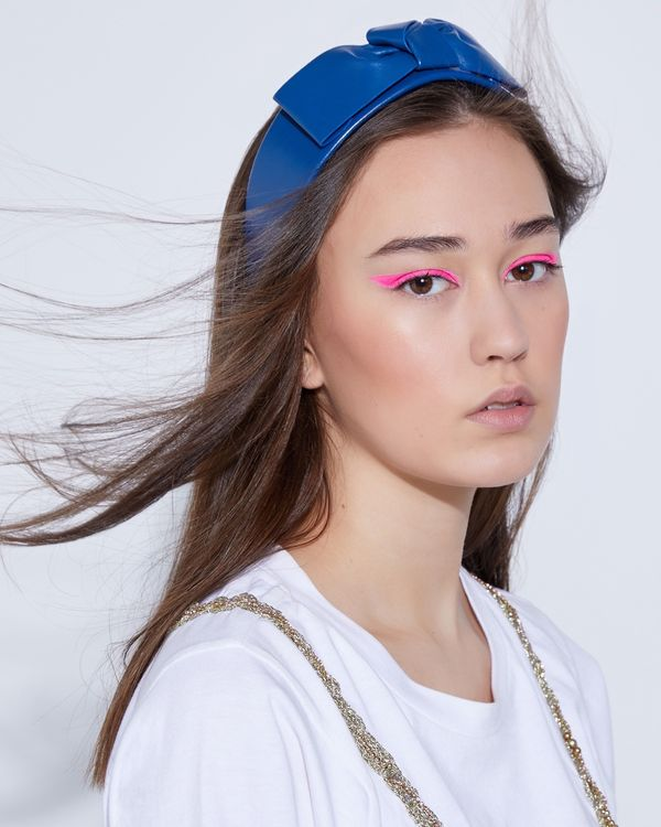 Joanne Hynes In A Total Knot Leather Headband (Limited Edition)