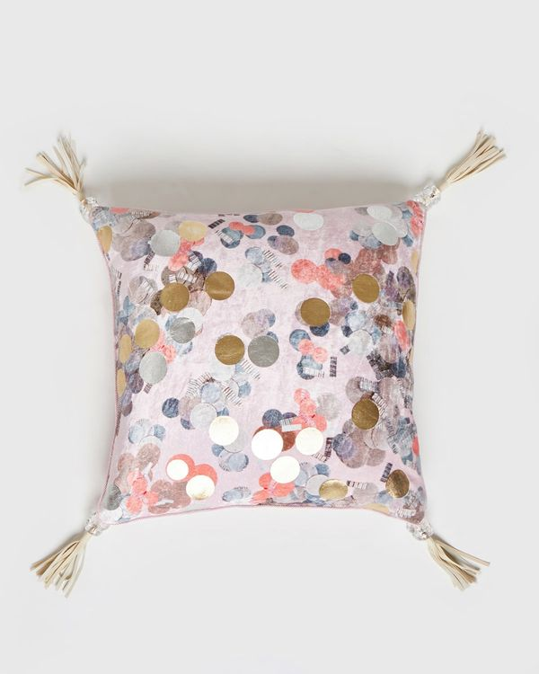 Joanne Hynes Scatter Fall Printed Velvet Cushion (Limited Edition)