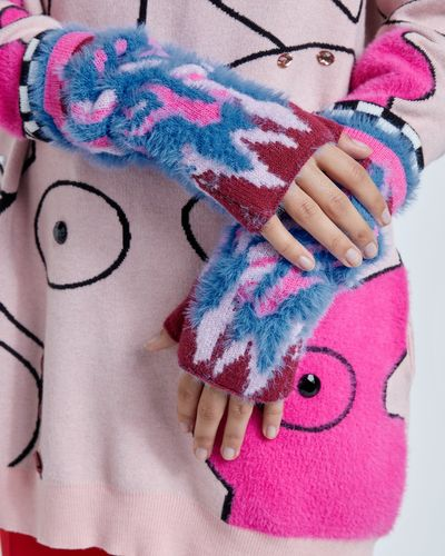 Joanne Hynes In Flames Long Fingerless Gloves thumbnail
