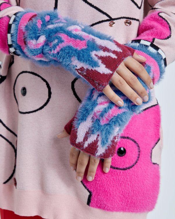 Joanne Hynes In Flames Long Fingerless Gloves
