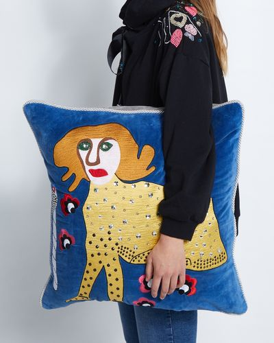Joanne Hynes Tiger Lady Exotic Flower Cushion