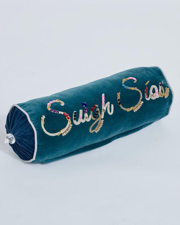 Joanne Hynes Suigh Síos Embellished Velvet Bolster