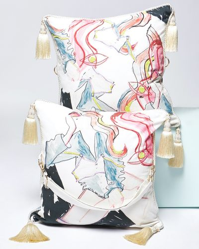 Joanne Hynes The Waiting Girl Cushion-Bag (With Removable Strap)