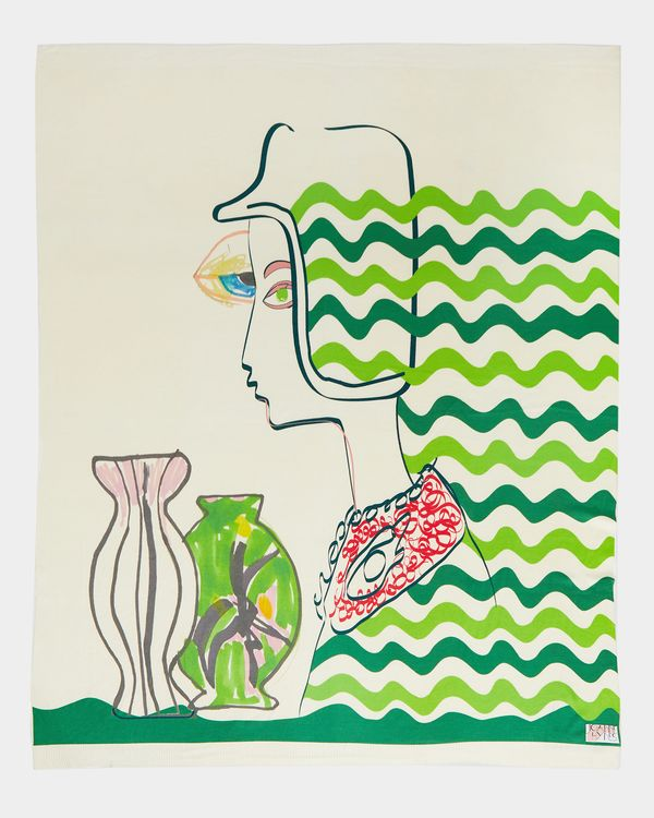 Joanne Hynes Sketchbook Racing Girl Print Decorative Throw (Limited Edition)