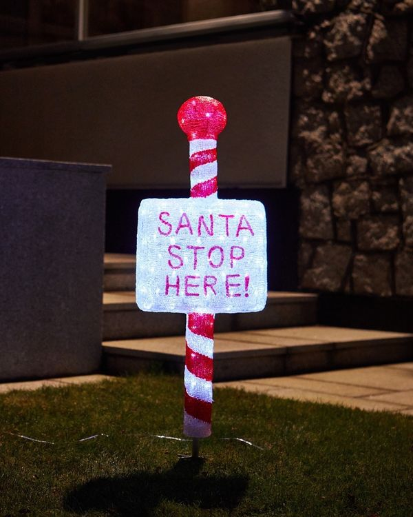 Acrylic Santa Stop Here Sign