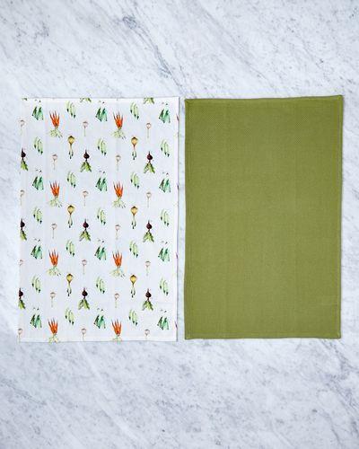 Helen James Considered Veggie Tea-Towel - Pack Of 2