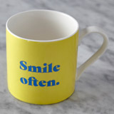 yellow Helen James Considered Smile Mug