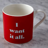 red Helen James Considered Want Mug