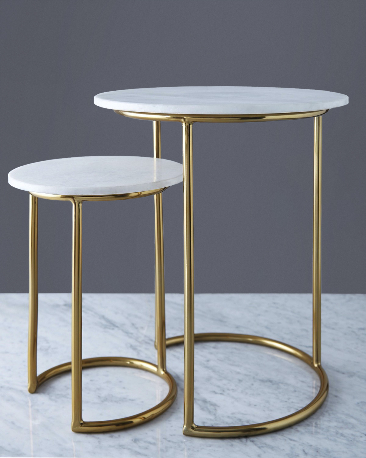 Dunnes Stores White Helen James Considered Marble Top Table