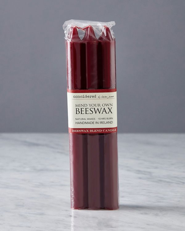 Helen James Considered Beeswax Dinner Candle - Pack Of 6