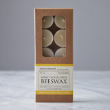 natural Helen James Considered Beeswax Tealights - Pack Of 10