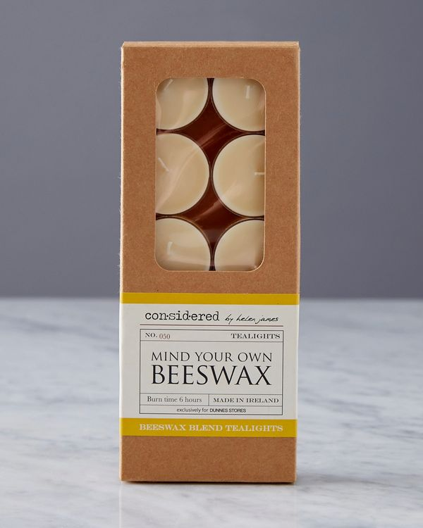 Helen James Considered Beeswax Tealights - Pack Of 10