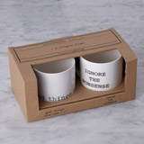 white Helen James Considered Slogan Mug - Pack Of 2