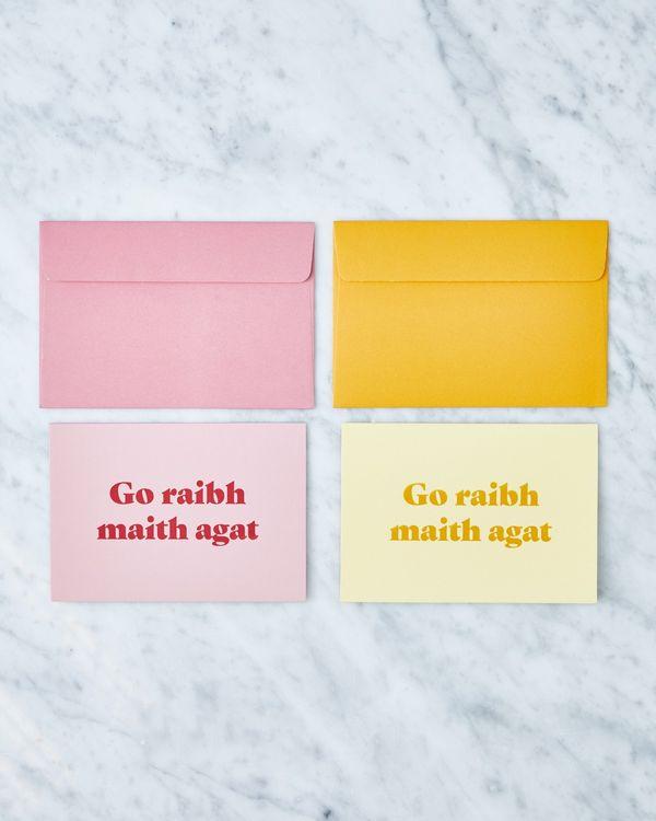 Helen James Considered Go Raibh Maith Agat Cards - Pack Of 2