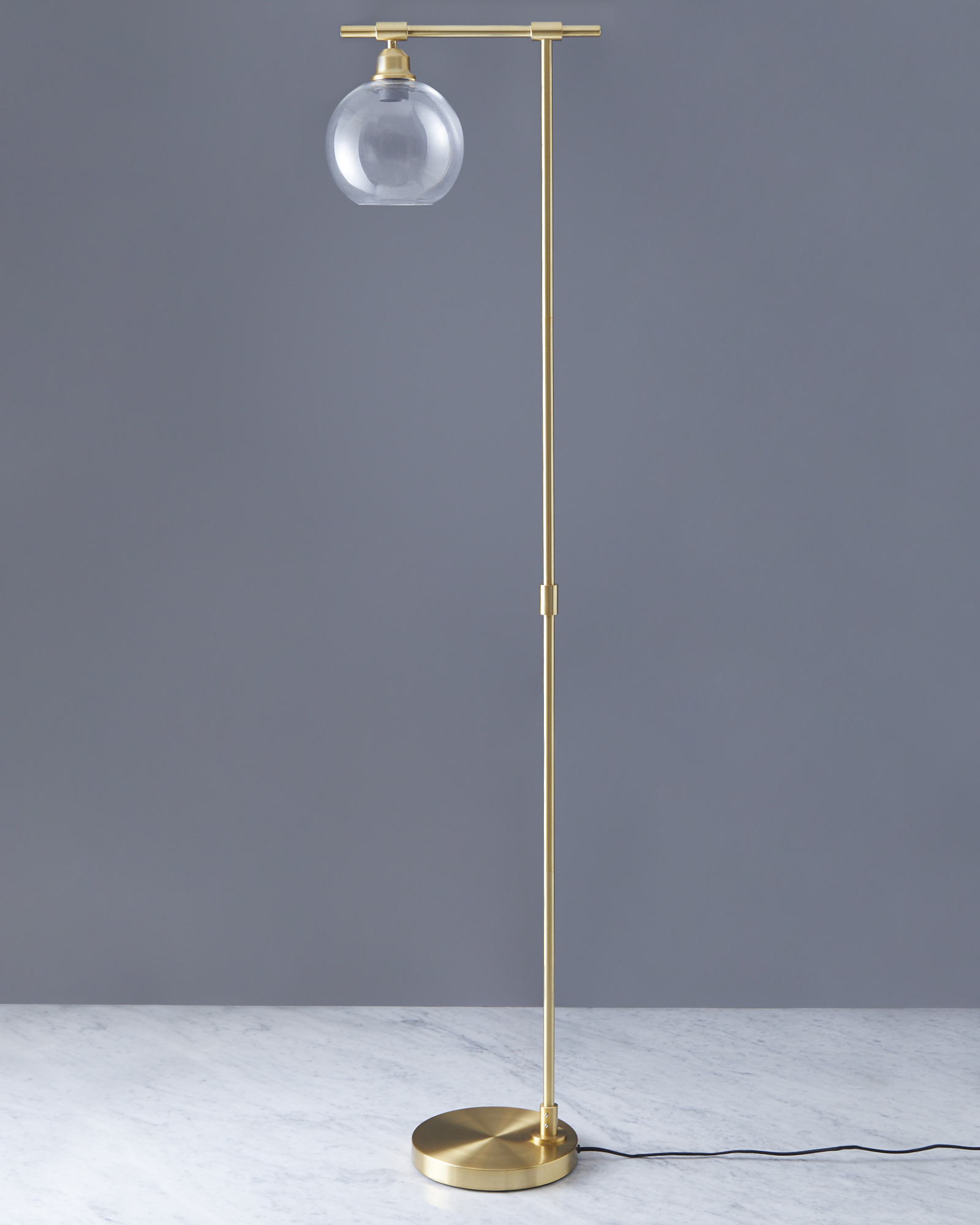 Picture of: Dunnes Stores Brass Helen James Considered Glass Floor Lamp