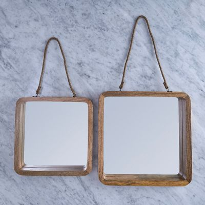 Helen James Considered Jute Wooden Mirror
