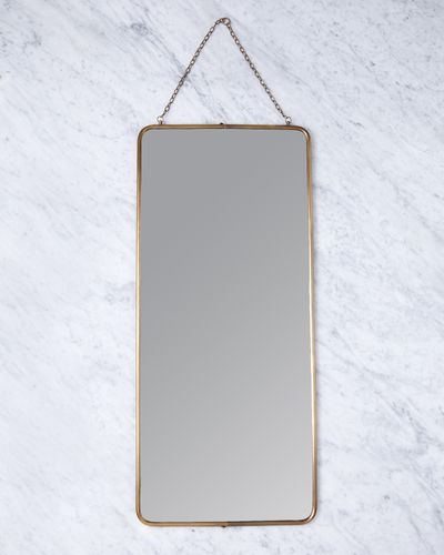 Helen James Considered Rectangle Brass Mirror