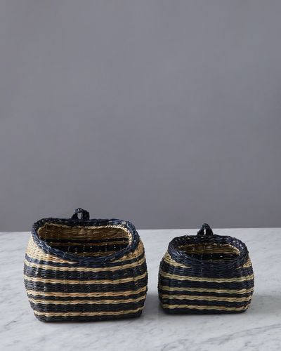 Helen James Considered Stripe Seagrass Storage Basket
