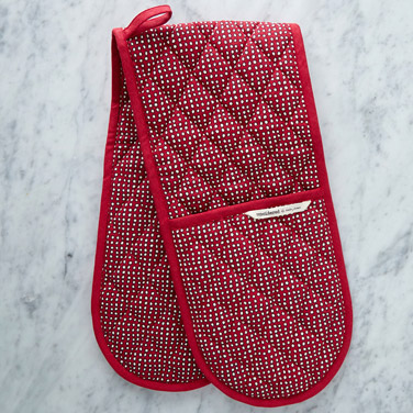redHelen James Considered Christmas Dot Double Oven Glove