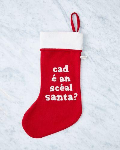 Helen James Considered Cad É An Scéal Santa Stocking