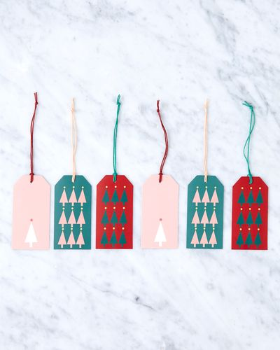 Helen James Considered Christmas Tree Gift Tags - Pack Of 6