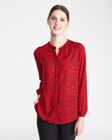 red Paul Costelloe Living Studio Red Print Blouse
