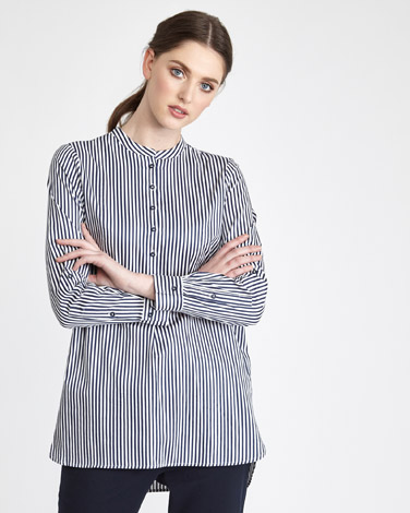 navy Paul Costelloe Living Studio Stripe Shirt