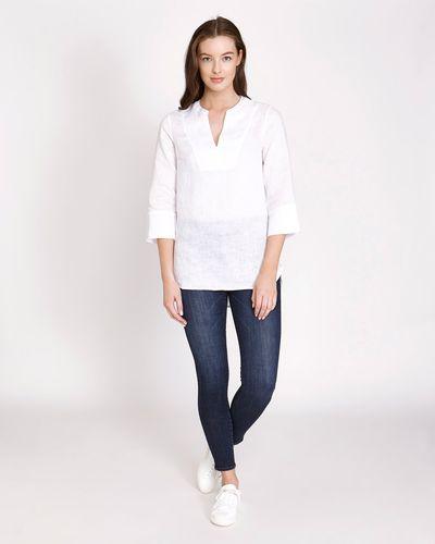 Paul Costelloe Living Studio V-Neck Linen Shirt