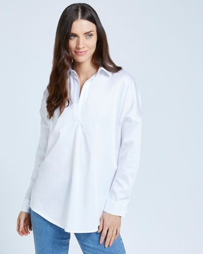 Paul Costelloe Living Studio Curve Placket Shirt