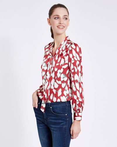 Paul Costelloe Living Studio Abstract Tie Front Blouse