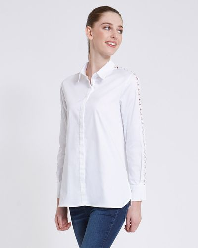 Paul Costelloe Living Studio Ladder Trim Shirt