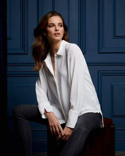 Paul Costelloe Living Studio Rope Trim Blouse