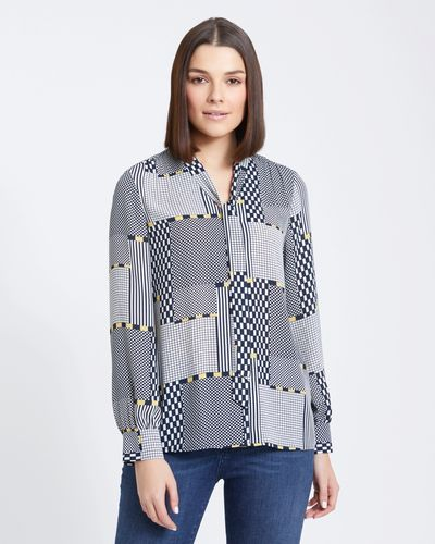 Paul Costelloe Living Studio Pattern Blouse