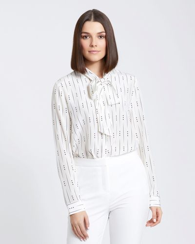 Paul Costelloe Living Studio Silk Mono Blouse