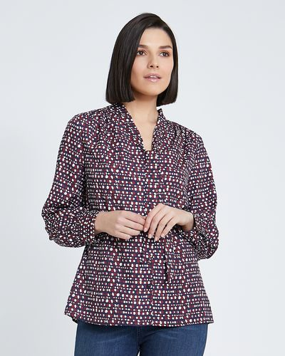 Paul Costelloe Living Studio Bordeaux Print Blouse