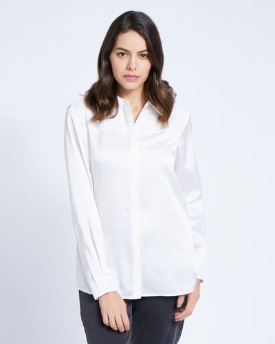 Paul Costelloe Living Studio Ivory Collar Panel Blouse
