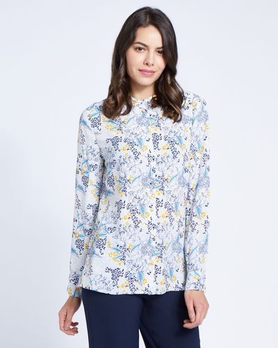 Paul Costelloe Living Studio Leopard Floral Blouse
