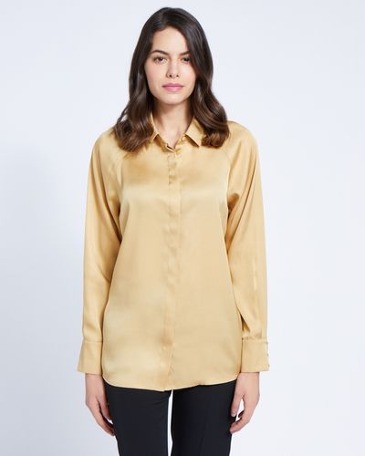 Paul Costelloe Living Studio Camel Raglan Sleeve Blouse