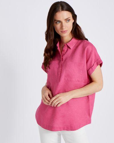 Paul Costelloe Living Studio Pink Pocket 100% Linen Shirt