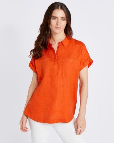 Paul Costelloe Living Studio Orange Pocket Shirt