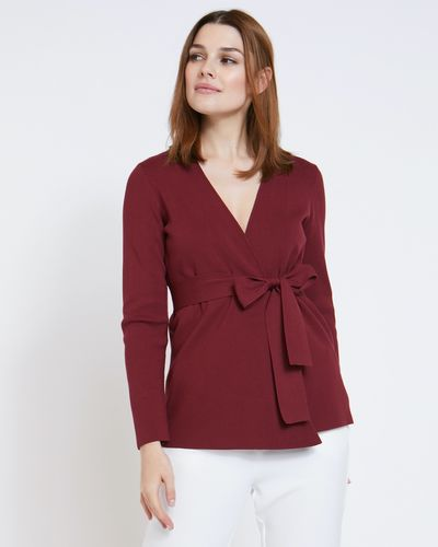 Paul Costelloe Living Studio Red Wrap Cardigan