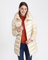 champagne Paul Costelloe Living Studio Padded Coat
