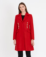 red Paul Costelloe Living Studio Parma Coat