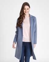 blue Paul Costelloe Living Studio Revere Collar Coat