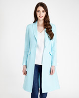 mint Paul Costelloe Living Studio Linen Collar Coat