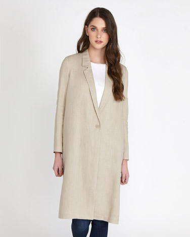 stone Paul Costelloe Living Studio Linen Duster Coat