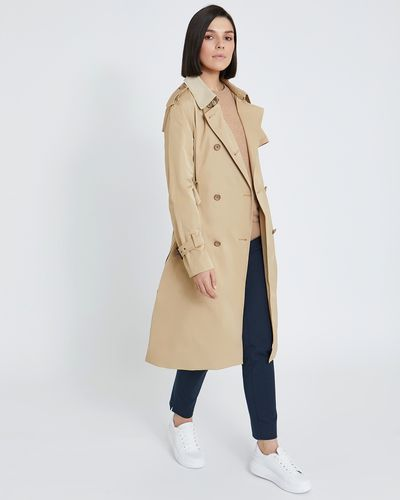 Paul Costelloe Living Studio Double Breasted Trench Coat