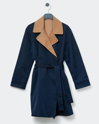 Paul Costelloe Living Studio Reversible Trench Overcoat thumbnail