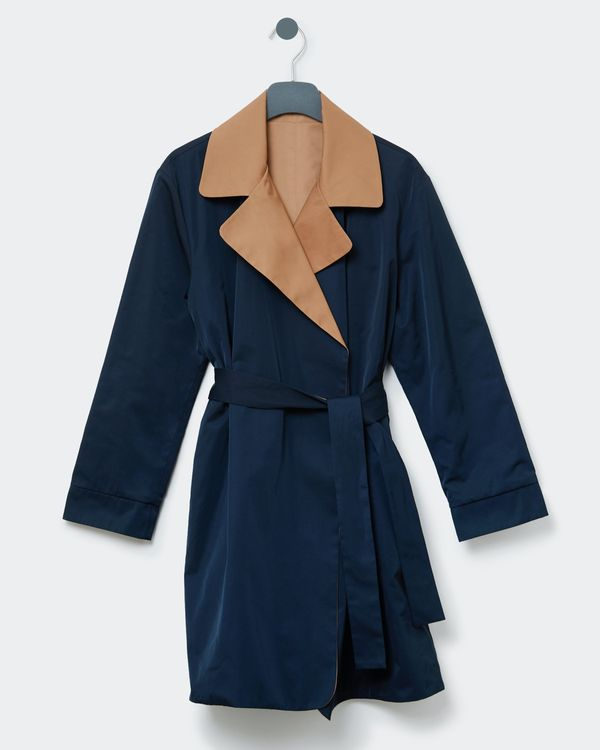 Paul Costelloe Living Studio Reversible Trench Overcoat